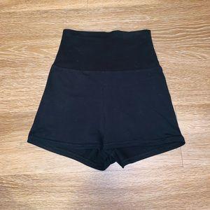 AMERICAN APPAREL black high waisted shorts